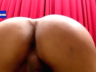 Brazilian Petite Tgirl Tugging On Her Manstick