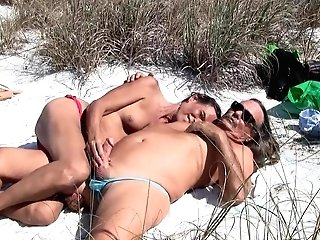Jamie And Michelle 60 On The Beach!