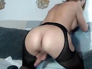 Huge-titted Russian Tranny Eva Lynx Wanking And Jizzing With A Lot Of Creamy Goo