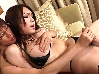 Japanese Trans Honey Butt-banging Her Bf