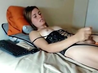 Amazing Homemade Shemale Clip With Stockings, Solo Scenes