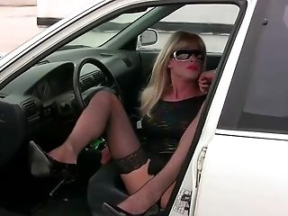 TrannyKitty joy (NonNude) upskirt tranny excitement