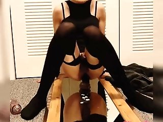 Sissygasm Railing Big Black Cock Plaything