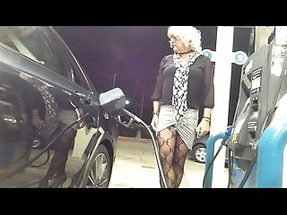 FRESH Long-legged Micro-skirt Gas Station Flashing
