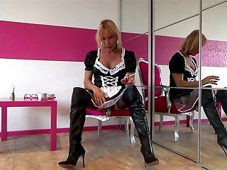 the maid in hip boots is a sissy