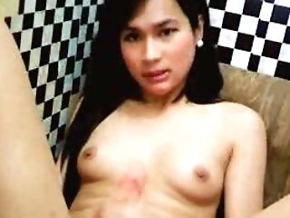 Big-titted Tranny Masturbate her Hard Fuck-stick