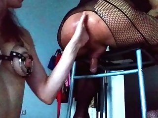 Fem Dom Anal Invasion Fist Insertion On Bar Stool:  Knuckles Stud In Black Undergarments six::first-timer,17::kink,38::hd,46::verified Amateurs,83::tr